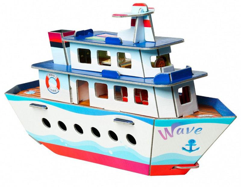 Умная Бумага 3D Пазл Кораблик