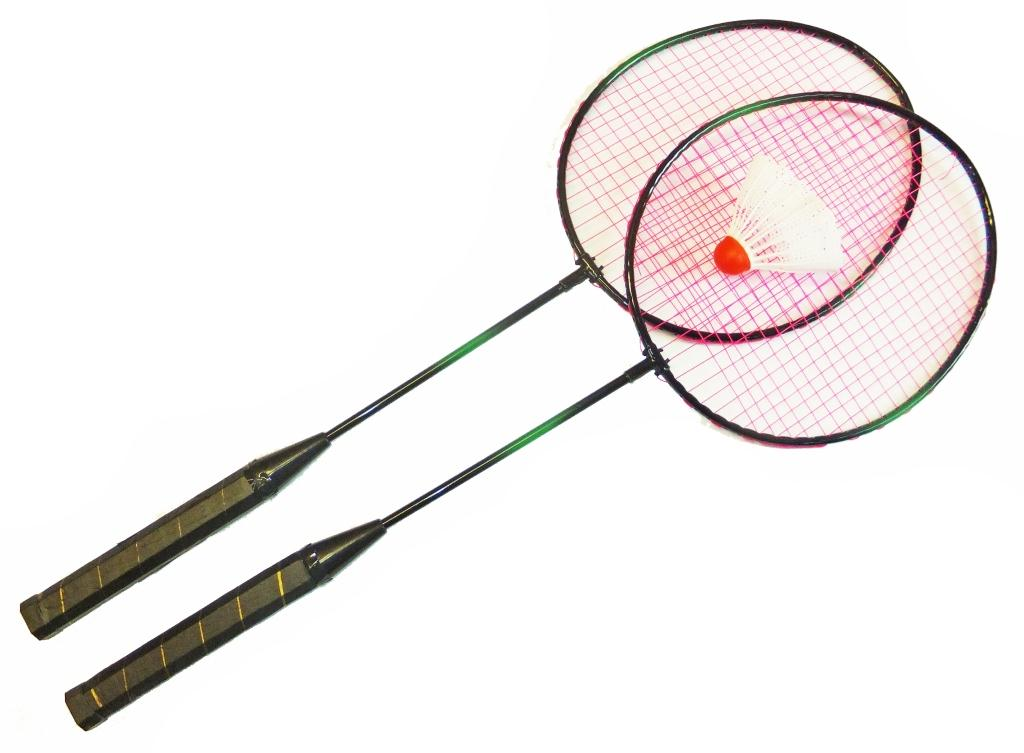 Набор для бадминтона Sport Elite, цвет: черный, малиновый, 3 предмета. HS-001 ракетка для бадминтона ласточка 3