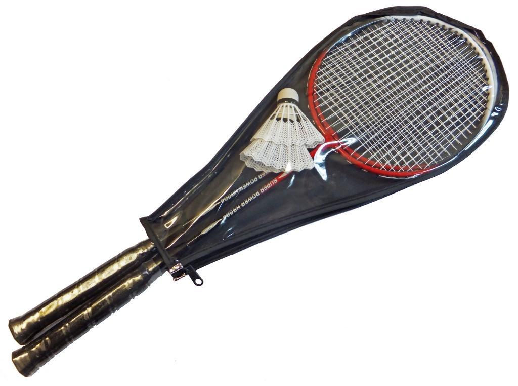 Набор для бадминтона Sport Elite, цвет: черный, красный, 3 предмета. HS-004 чехол переноска sport elite zs 6525 65x25cm silver