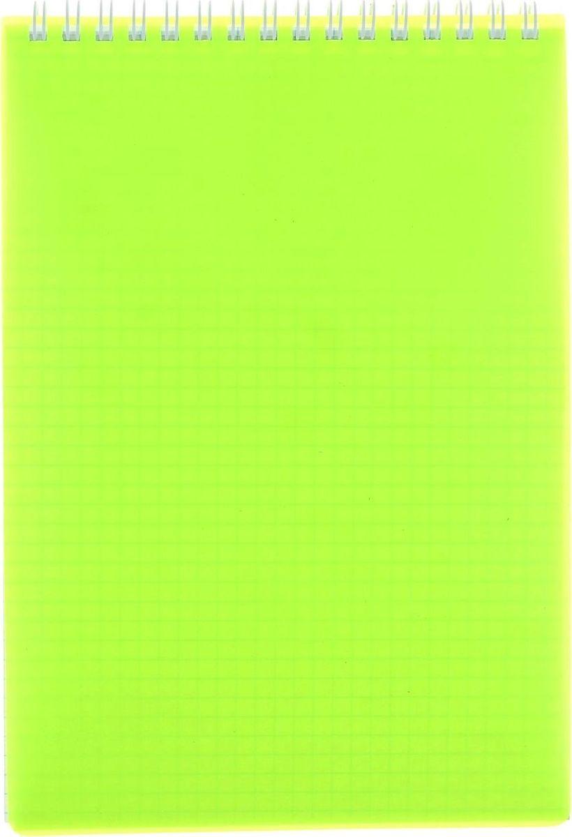 Hatber Блокнот Diamond Neon 80 листов в клетку цвет желтый Формат А5 блокнот серия natural формат а5 140 стр темно бордовый в клетку