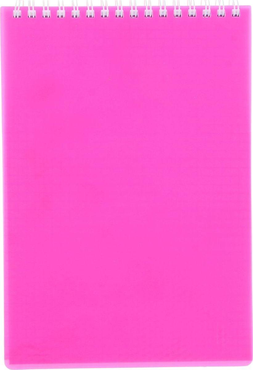 Hatber Блокнот Diamond Neon 80 листов в клетку цвет розовый1020812Блокнот - компактное и практичное полиграфическое изделие, предназначенное для записей и заметок. Такой аксессуар прекрасно подойдёт для фиксации повседневных дел.Блокнот Hatber Diamond Neon на спирали содержит 80 листов в клетку формата А7. Обложка выполнена из пластика.Это канцелярское изделие отличается красочным оформлением и придётся по душе как взрослому, так и ребёнку.