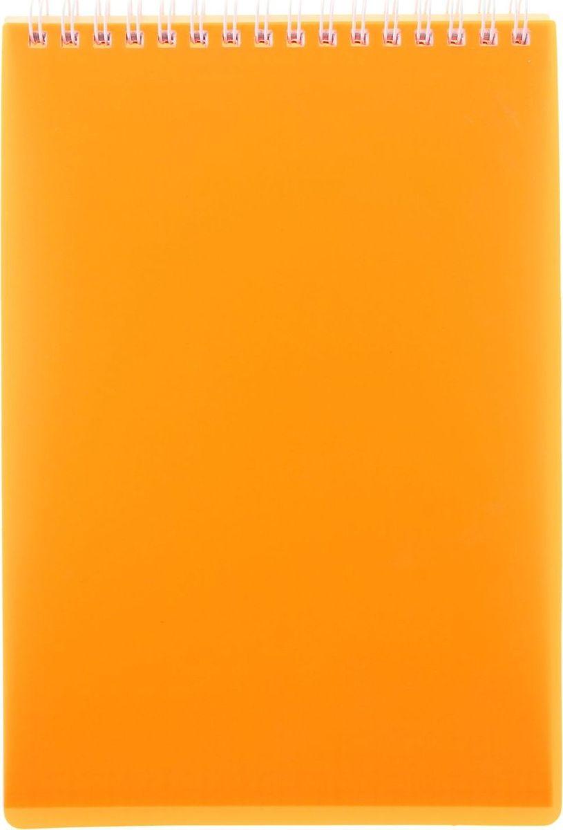 Hatber Блокнот Diamond Neon 80 листов в клетку цвет оранжевый Формат А5 ежедневник 80 листов а5 папирус 18217