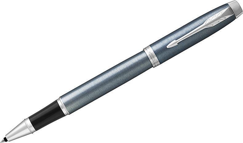 Parker Ручка-роллер IM Light Blue Grey CT черная1931662Ручка-роллер в лакированном корпусе серо-синего цвета с круговой полировкой. Хромированная отделка деталей с полировкой