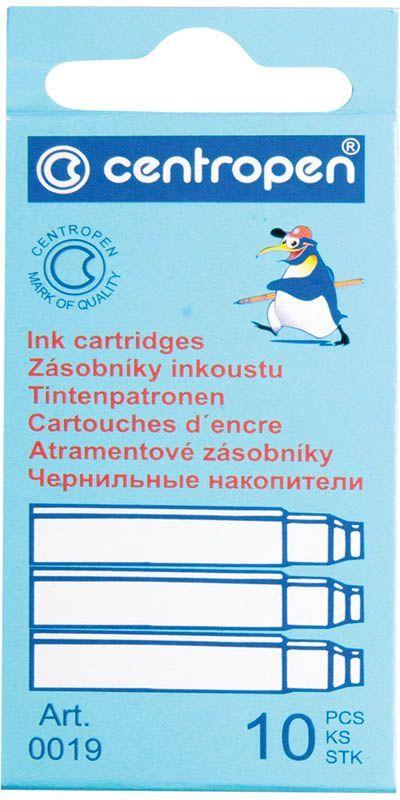 Centropen Картридж чернильный цвет синий 10 шт100191001Сменные картриджи Centropen с чернилами позволяют легко и просто заправить перьевую ручку, при этом не испачкавшись.
