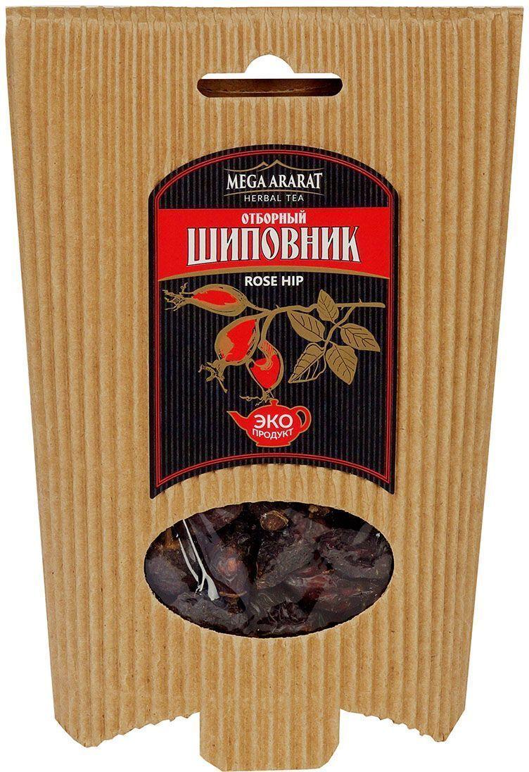 Mega Ararat Шиповник плоды, 80 г4850005720160Mega Ararat Шиповник - натуральный продукт из высокогорных, экологически чистых регионов Армении ручной сборки и традиционной сушки без химических добавок. Чай-отвар шиповника полезен как общеукрепляющее и тонизирующее средство, повышающее иммунитет. По количеству полезных веществ ежедневно необходимых человеку шиповник можно назвать рекордсменом. Благодаря огромному содержанию аскорбиновой кислоты плоды шиповника могут устранять общее недомогание, кровоточивость десен, повышать устойчивость организма к инфекционным заболеваниям. В природе плоды шиповника имеют самую высокую витаминную активность.