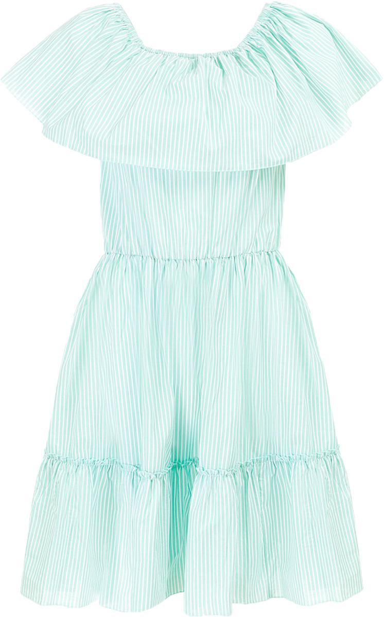 Платье Baon, цвет: зеленый. B457071_Amazonite Striped. Размер S (44)B457071_Amazonite StripedПлатье Baon выполнено из хлопка. Модель имеет эластичные вставки-резинки, расположенные на талии и вдоль выреза горловины.