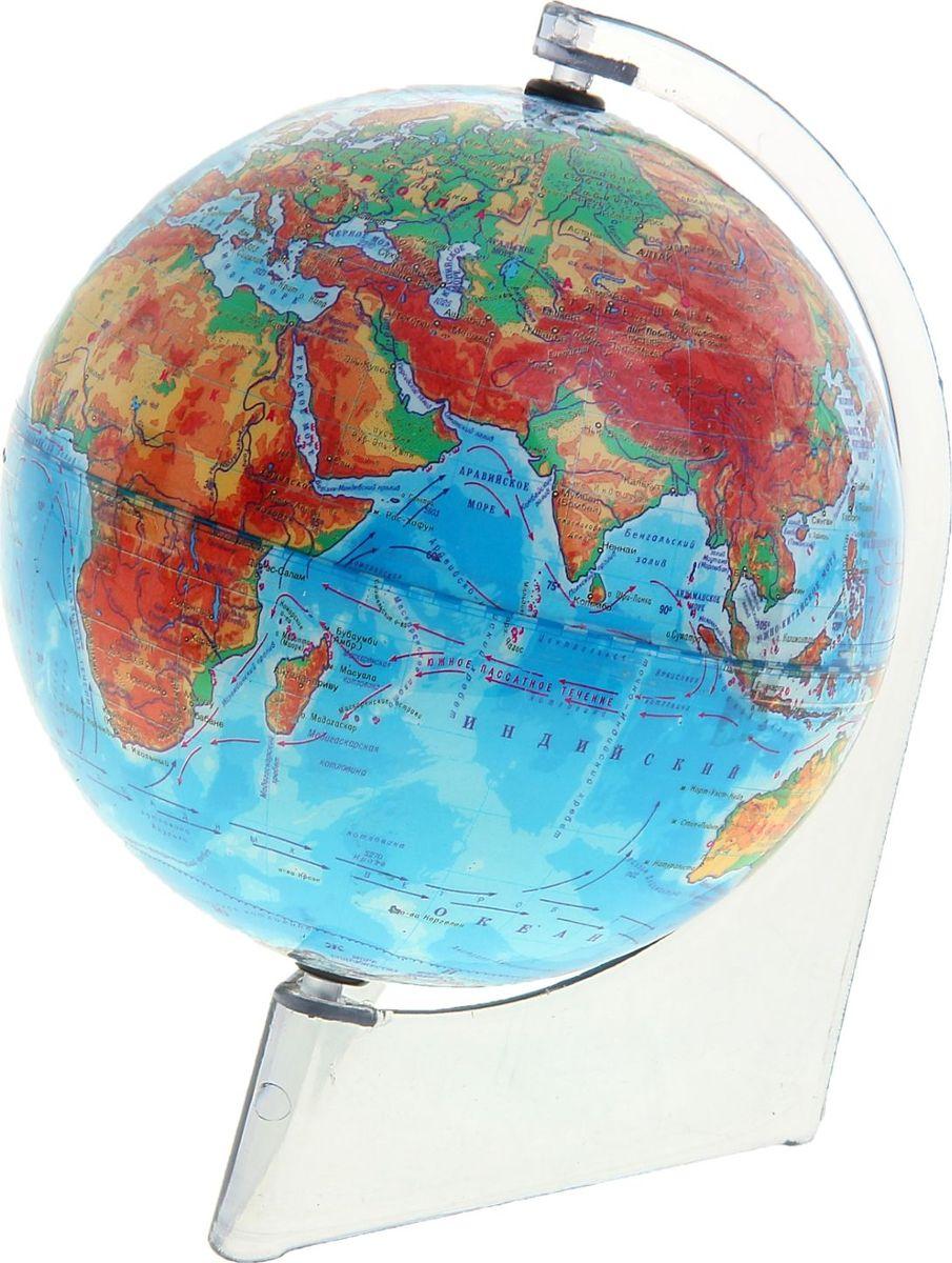Глобусный мир Глобус физический диаметр 15 см 10652071065207Глобус для всех, глобус каждому!Глобус — самый простой способ привить ребенку любовь к географии. Он является отличным наглядным примером, который способен в игровой доступной и понятной форме объяснить понятия о планете Земля.Также интерес к глобусам проявляют не только детки, но и взрослые. Для многих уменьшенная копия планеты заменяет атлас мира из-за своей доступности и универсальности.Умный подарок! Кому принято дарить глобусы? Всем! Глобус физический диаметр 150 мм, на треугольной подставке — это уменьшенная копия земного шара, в которой каждый найдет для себя что-то свое.путешественники и заядлые туристы смогут отмечать с помощью стикеров те места, в которых побывали или собираются их посетитьделовые и успешные люди оценят такой подарок по достоинству, потому что глобус ассоциируется со статусом и властьюпреподаватели, ученые, студенты или просто неординарные личности также найдут для глобуса достойное место в своем доме.Итак, спешите заказать настольные глобусы в нашем интернет-магазине по привлекательным ценам, и помните, кто владеет глобусом, тот владеет миром!