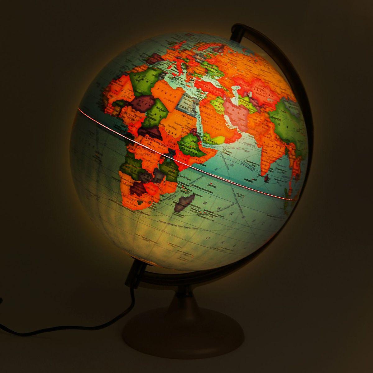 Глобусный мир Глобус политический с подсветкой диаметр 30 см Глобусный мир