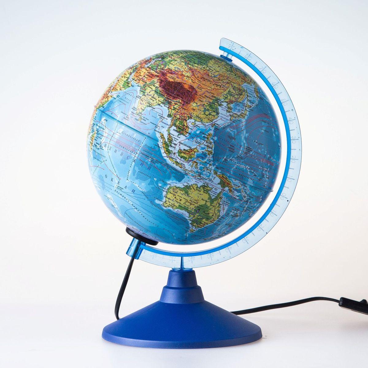 Глобен Глобус физический Классик Евро диаметр 15 см1072878Глобус для всех, глобус каждому!Глобус — самый простой способ привить ребенку любовь к географии. Он является отличным наглядным примером, который способен в игровой доступной и понятной форме объяснить понятия о планете Земля.Также интерес к глобусам проявляют не только детки, но и взрослые. Для многих уменьшенная копия планеты заменяет атлас мира из-за своей доступности и универсальности.Умный подарок! Кому принято дарить глобусы? Всем! Глобус физический диаметр 150мм Классик Евро с подсветкой — это уменьшенная копия земного шара, в которой каждый найдет для себя что-то свое.путешественники и заядлые туристы смогут отмечать с помощью стикеров те места, в которых побывали или собираются их посетитьделовые и успешные люди оценят такой подарок по достоинству, потому что глобус ассоциируется со статусом и властьюпреподаватели, ученые, студенты или просто неординарные личности также найдут для глобуса достойное место в своем доме.Итак, спешите заказать настольные глобусы в нашем интернет-магазине по привлекательным ценам, и помните, кто владеет глобусом, тот владеет миром!