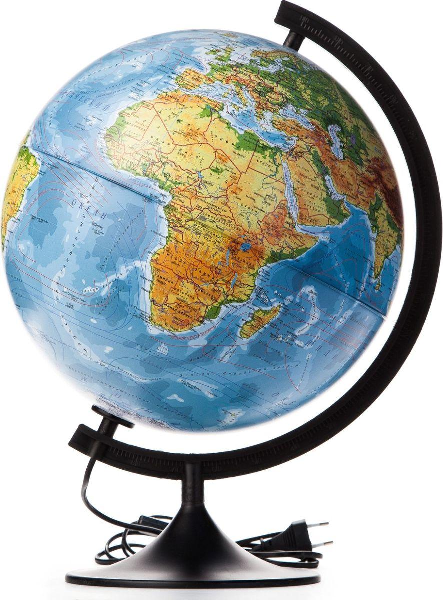 Глобен Глобус физико-политический Классик с подсветкой диаметр 32 см1072906Глобус для всех, глобус каждому!Глобус - самый простой способ привить ребенку любовь к географии. Он является отличным наглядным примером, который способен в игровой доступной и понятной форме объяснить понятия о планете Земля.Также интерес к глобусам проявляют не только детки, но и взрослые. Для многих уменьшенная копия планеты заменяет атлас мира из-за своей доступности и универсальности.Умный подарок! Кому принято дарить глобусы? Всем! Глобус физико-политическийКлассик с подсветкой - это уменьшенная копия земного шара, в которой каждый найдет для себя что-то свое:-путешественники и заядлые туристы смогут отмечать с помощью стикеров те места, в которых побывали или собираются их посетить;-деловые и успешные люди оценят такой подарок по достоинству, потому что глобус ассоциируется со статусом и властью;-преподаватели, ученые, студенты или просто неординарные личности также найдут для глобуса достойное место в своем доме.