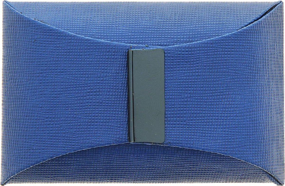 Визитница вертикальная цвет синий