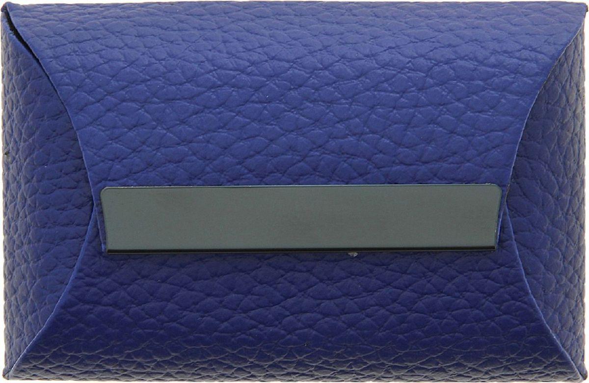 Визитница горизонтальная цвет синий