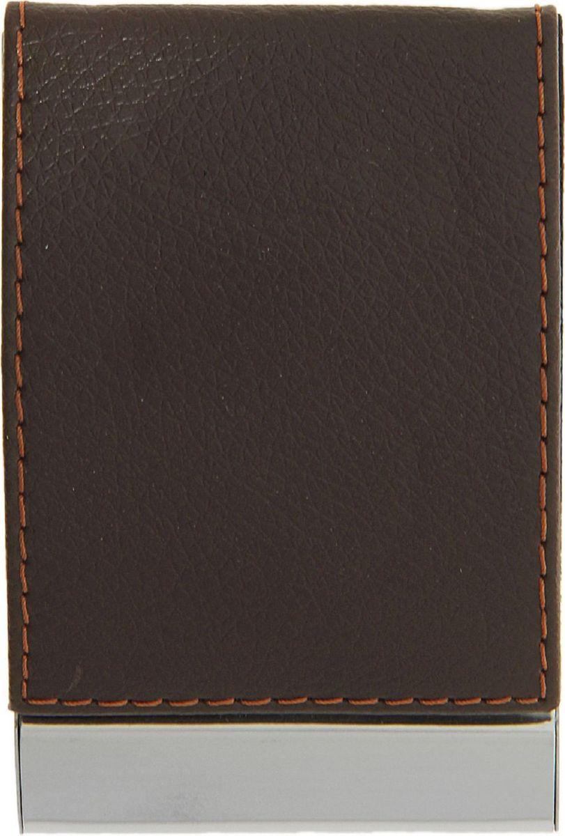 Визитница вертикальная цвет коричневый 116359116359Что такое визитница для делового человека? Это удобный способ содержать все важные контакты под рукой или просто хранить свои собственные карточки. По отдельности они могут мяться или просто теряться.Визитница не только упорядочивает карточки, но и дисциплинирует самого хозяина и демонстрирует его статус окружающим.Вертикальная визитница выполнена из искусственной кожи и оформлена прострочкой контрастного цвета. Такой аксессуар станет отличным подарком как коллегам, так и бизнес-партнерам.