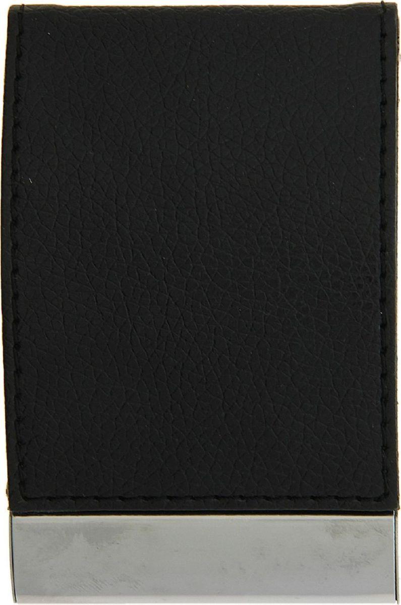 Визитница вертикальная цвет черный 116360116360Современному деловому человеку необходима визитница. Вертикальная визитница - это удобный способ содержать все важные контакты под рукой или просто хранить свои собственные карточки. По отдельности они могут мяться или просто теряться.Визитница не только упорядочивает карточки, но и дисциплинирует самого хозяина и демонстрирует его статус окружающим.Вертикальная визитница, выполненная из фактурной искусственной кожи и металла, станет отличным подарком как коллегам, так и бизнес-партнерам.