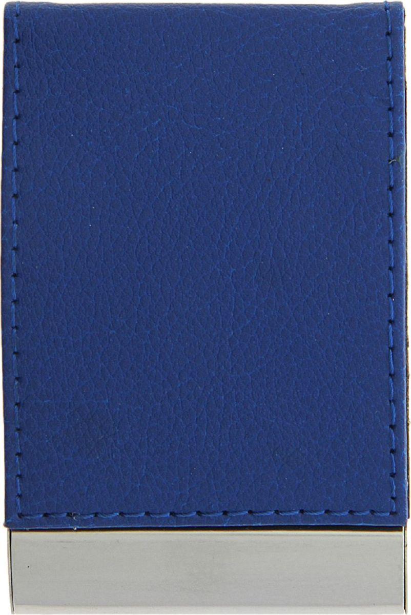 Визитница вертикальная цвет синий 116362116362Современному деловому человеку необходима визитница. Вертикальная визитница - это удобный способ содержать все важные контакты под рукой или просто хранить свои собственные карточки. По отдельности они могут мяться или просто теряться.Визитница не только упорядочивает карточки, но и дисциплинирует самого хозяина и демонстрирует его статус окружающим.Вертикальная визитница, выполненная из фактурной искусственной кожи и металла, станет отличным подарком как коллегам, так и бизнес-партнерам.