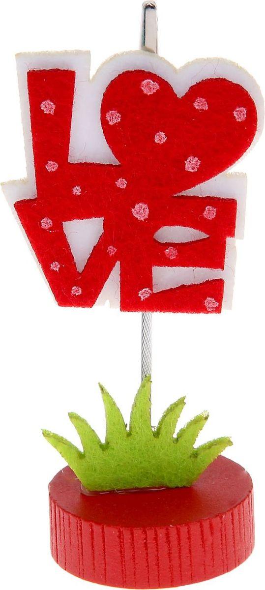 Визитница-прищепка Love1215379Визитница-прищепка Love - это полезный аксессуар, который украсит интерьер и внесет в него частичку уюта, доброты, тепла. С обратной стороны изделия находится прищепка, благодаря которой можно закрепить памятную фотографию или открытку с приятным пожеланием.Такой аксессуар станет оригинальным презентом или украшением праздничного стола.