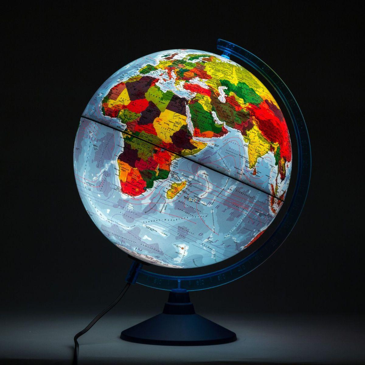 Глобен Глобус физико-политический Классик Евро с подсветкой диаметр 32 см Globen