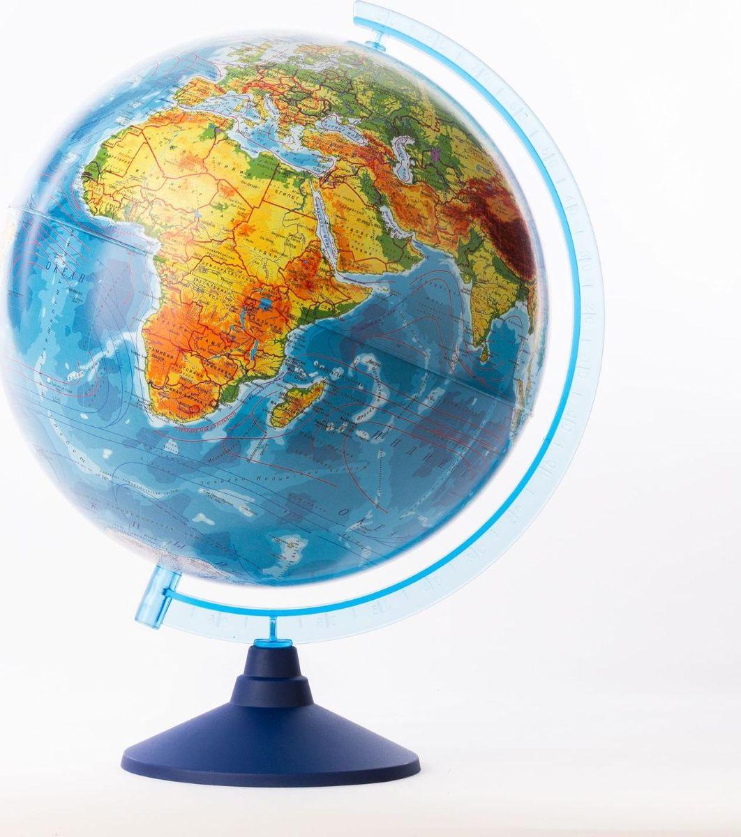 Глобен Глобус физический Классик Евро диаметр 32 см1259373Глобус для всех, глобус каждому!Глобус — самый простой способ привить ребенку любовь к географии. Он является отличным наглядным примером, который способен в игровой доступной и понятной форме объяснить понятия о планете Земля.Также интерес к глобусам проявляют не только детки, но и взрослые. Для многих уменьшенная копия планеты заменяет атлас мира из-за своей доступности и универсальности.Умный подарок! Кому принято дарить глобусы? Всем! Глобус физический диаметр 320мм Классик Евро — это уменьшенная копия земного шара, в которой каждый найдет для себя что-то свое.путешественники и заядлые туристы смогут отмечать с помощью стикеров те места, в которых побывали или собираются их посетитьделовые и успешные люди оценят такой подарок по достоинству, потому что глобус ассоциируется со статусом и властьюпреподаватели, ученые, студенты или просто неординарные личности также найдут для глобуса достойное место в своем доме.Итак, спешите заказать настольные глобусы в нашем интернет-магазине по привлекательным ценам, и помните, кто владеет глобусом, тот владеет миром!