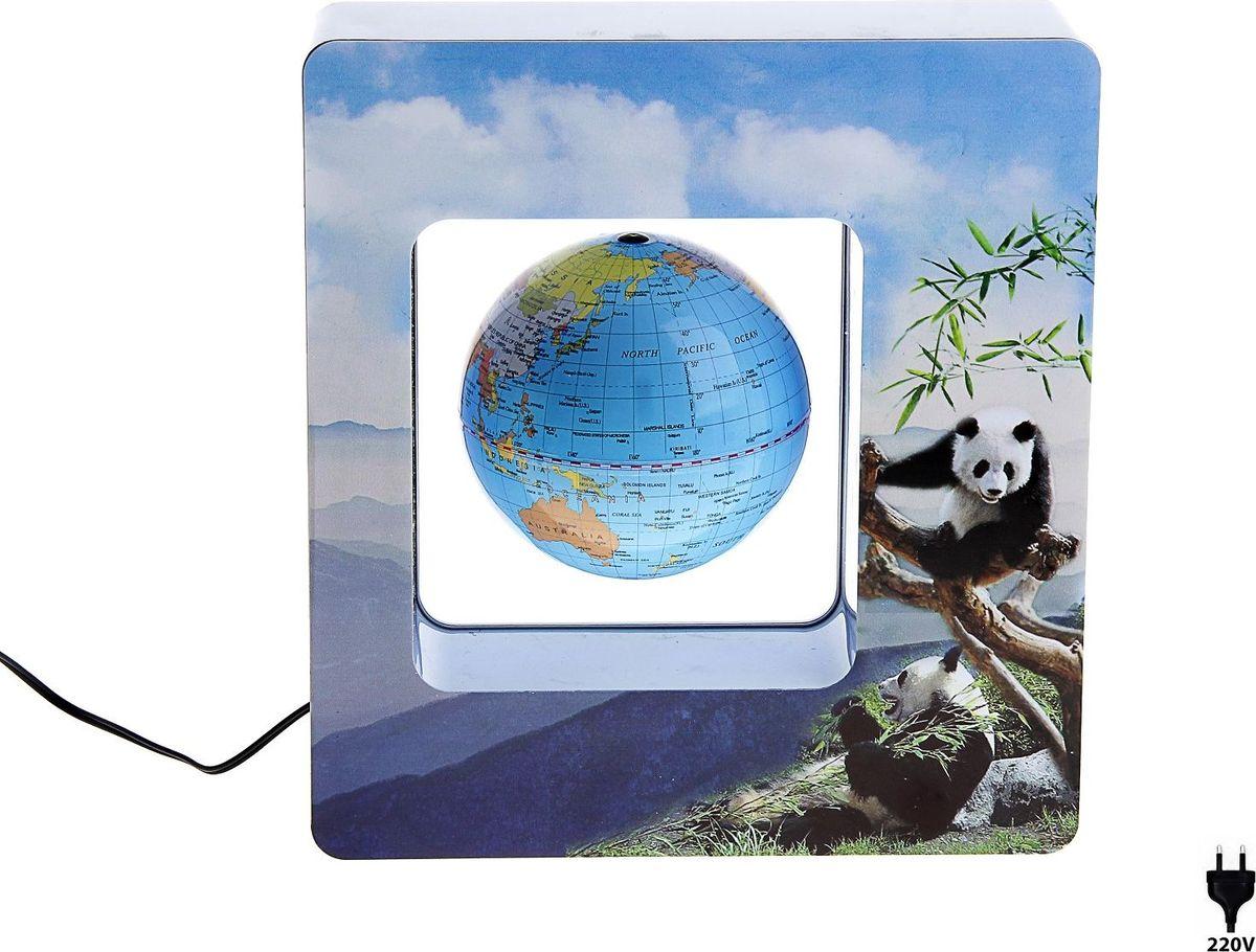 Глобус Окно с пандами127174Глобус сувенирный на магнитном поле, подставка окно с пандами, голубой, 220V — это украшение рабочего места и кладезь полезной информации о Земле. С его помощью вы увидите полет планеты в миниатюре. Этот гаджет имеет еще несколько названий: антигравитационный, левитирующий или левитрон. Раскроем секрет этого чуда. В базу встроен электромагнит, а в шар — магнит с противоположным зарядом. В результате сфера зависает в воздухе и вращается вокруг своей оси. Особенности антигравитационного глобуса Поворачивайте шар, пока он парит в воздухе. Это снимает нервное напряжение и помогает отвлечься от рутинной работы. Оригинальная задумка станет вашим источником вдохновения во время умственного процесса.