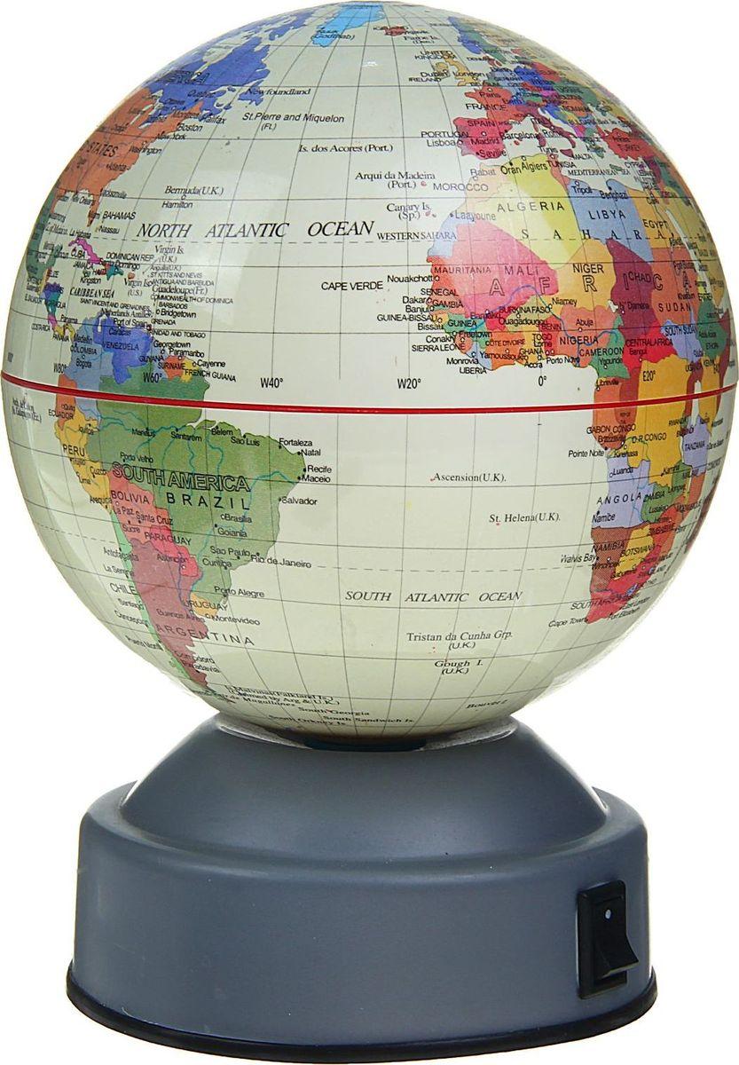 Глобус на английском языке диаметр 10 см 1367016