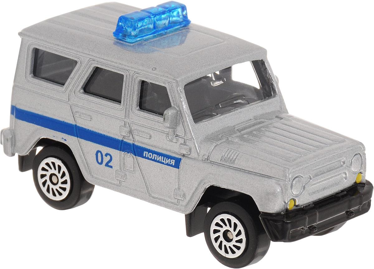 ТехноПарк Модель автомобиля UAZ Hunter Полиция цвет серебристый технопарк автомобиль uaz hunter пожарная служба