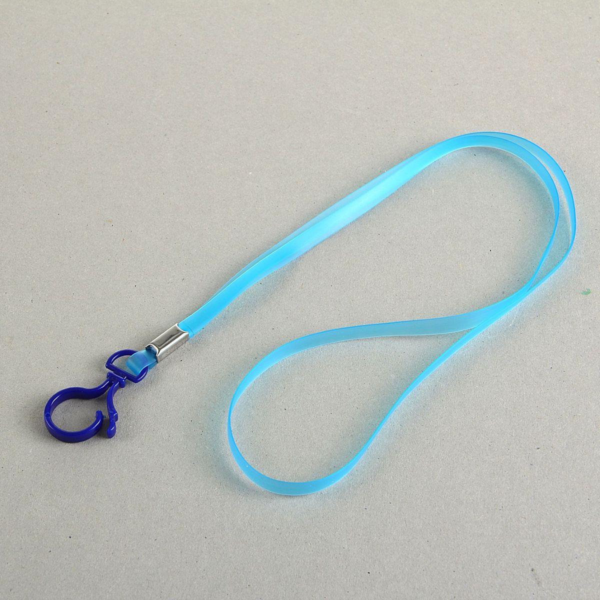 Лента для бейджа длина 38 см ширина 5 мм цвет синий1965016Лента для бейджа с пластиковым карабином используется для удобного ношения бейджа.Она изготовлена из пластика. Лента может быть использована в качестве элемента корпоративного стиля, особенно в сочетании с бейджем такого же цвета.