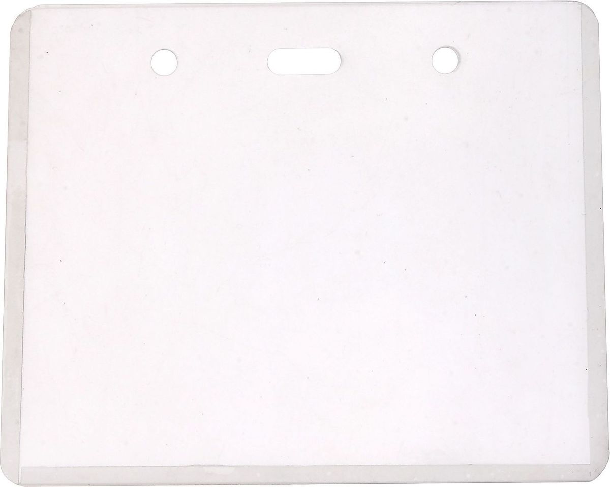 Xue Shi Бейдж горизонтальный 9,2 х 11,5 см593855Бейдж - неотъемлемый атрибут любого офиса или компании, который является визитной карточкой сотрудника.Горизонтальный бейдж Xue Shi имеет специальные отверстия для веревки.