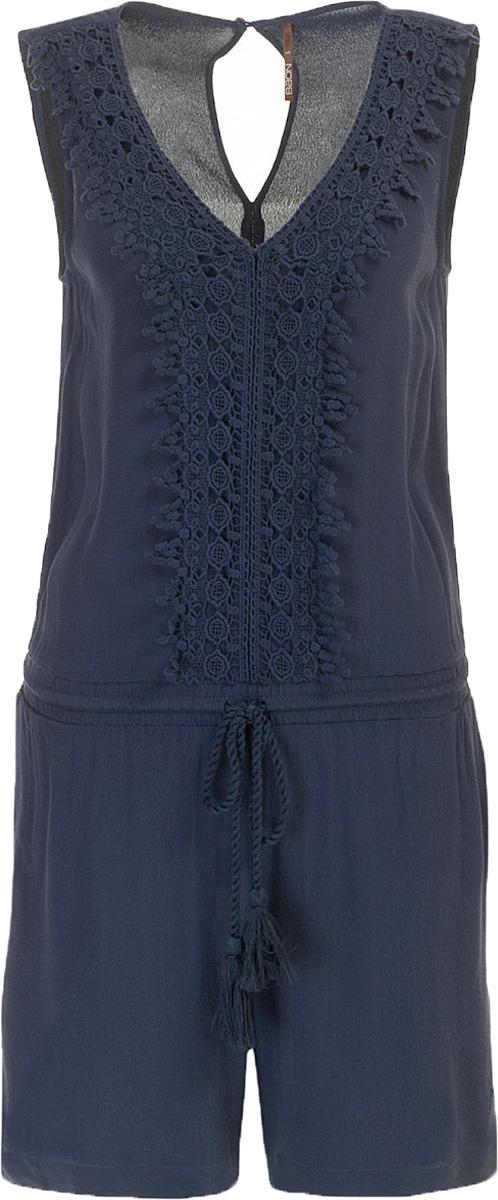 Комбинезон женский Baon, цвет: темно-синий. B497005_Dark Navy. Размер M (46) джемпер женский baon цвет темно синий b136561 размер m 46