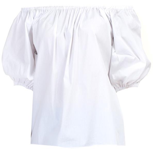 Блузка женская Baon, цвет: белый. B197064_White. Размер L (48)B197064_WhiteБлузка женская Baon выполнена из хлопка, эластана и полиамида. Манжеты и вырез горловины дополнены эластичными вставками-резинками.