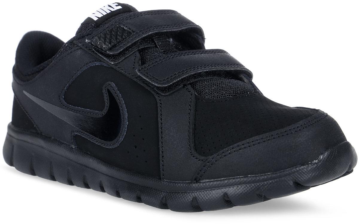 Кроссовки детские Nike Flex Experience, цвет: черный. 631496-003. Размер 1 (31,5)631496-003Детские кроссовки Flex Experience от Nike идеально подойдут для бега или тренировок. Верх модели, выполненный из натуральной и искусственной кожи, дополнен вставками из текстиля. Модель оформлена перфорацией, которая обеспечивает естественную вентиляцию, сбоку - фирменным логотипом, на язычке - фирменной нашивкой. Подкладка из текстиля и стелька из EVA с текстильной поверхностью комфортны при движении. Ремешки с застежками-липучками надежно фиксируют модель на ноге. Шестигранные эластичные желобки на подошве обеспечивают максимально естественные движения. Подошва с вафельным рисунком с улучшенной амортизацией увеличивает четкость движений.