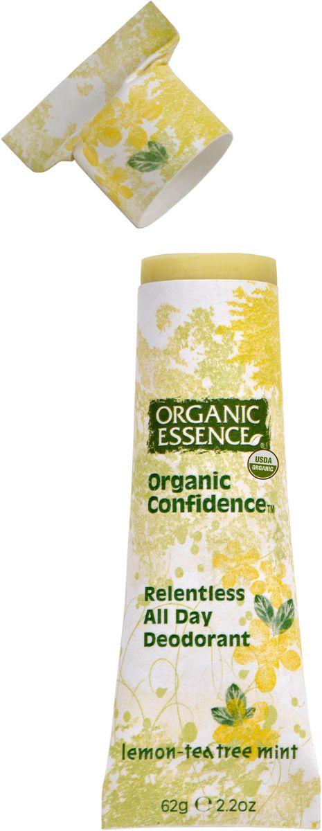 Organic Essence Органический дезодорант, Лимон и Масло Чайного Дерева 62 гDCLEMДезодорант Organic Essence - это уникальный и эффективный продукт. Органическое кокососвое масло одновременно борется с бактериями и смягчает кожу подмышек. Пищевая сода также нейтрализует бактерии, вызывающие неприятный запах и обеспечивает длительную работу дезодоранта в течение всего дня. Упаковка из картона полностью компостируется. Не содержат: ГМО, наночастицы, парабены, пропиленгликоль, синтетических красителей, ароматизаторов, алюминия, EDTA, триклозан и другие токсичные вещества. USDA сертифицированный органический продукт.