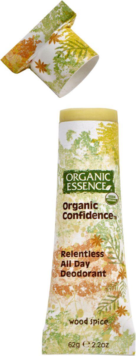 Organic Essence Органический дезодорант, Древесно-пряный 62 гDCWOSДезодорант Organic Essence - это уникальный и эффективный продукт. Органическое кокососвое масло одновременно борется с бактериями и смягчает кожу подмышек. Пищевая сода также нейтрализует бактерии, вызывающие неприятный запах и обеспечивает длительную работу дезодоранта в течение всего дня. Упаковка из картона полностью компостируется. Не содержат: ГМО, наночастицы, парабены, пропиленгликоль, синтетических красителей, ароматизаторов, алюминия, EDTA, триклозан и другие токсичные вещества. USDA сертифицированный органический продукт.