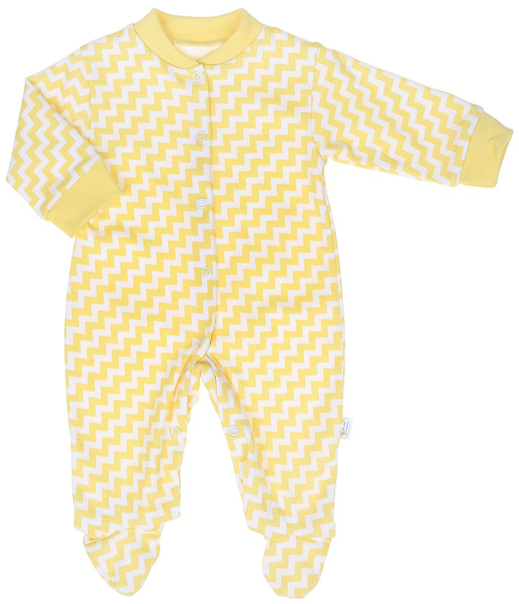 Комбинезон домашний для мальчика Веселый малыш One, цвет: желтый. 51152/One-Зигзаг. Размер 6251152Комбинезон домашний для мальчика Веселый малыш с закрытыми ножками выполнен из качественного материала. Модель с длинными рукавами застегивается на кнопки.