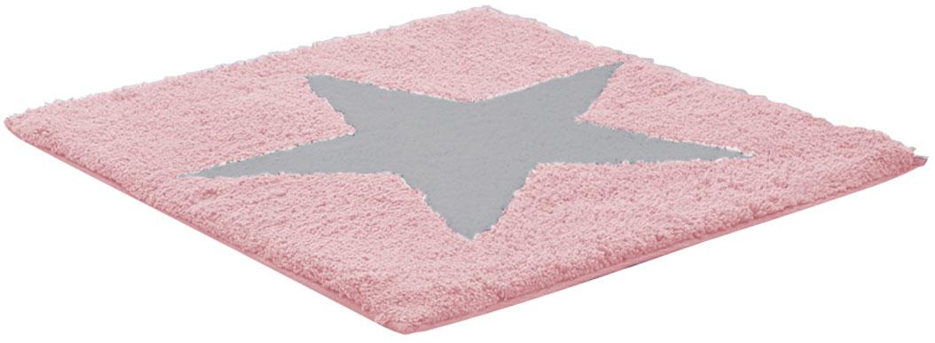Коврик для ванной комнаты Ridder Star, цвет: розовый, 50 х 55 см712807Высококачественный коврик Ridder Star - подарок для ваших ножек. Состав: 100% микроволокно из акрила. Подложка: латекс. Стирать при щадящем режиме 30°С. Можно сушить в сушильной машине. Не подвергать химической чистке. Не гладить.