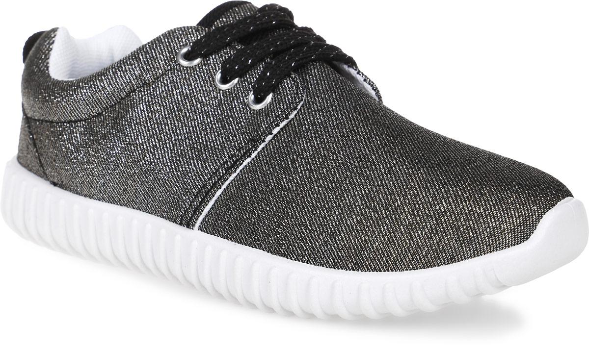 Кроссовки для девочки Patrol, цвет: серебристый, черный. 980-128CS-17s-8-34. Размер 32980-128CS-17s-8-34Стильные кроссовки от Patrol - отличный выбор для вашей юной модницы на каждый день. Верх модели выполнен из текстиля с блестящей нитью.Классическая шнуровка на подъеме обеспечивает надежную фиксацию обуви на ноге. Подкладка и стелька из текстильного материала создают комфорт при носке. Подошва выполнена из резины.Рифление на подошве обеспечивает отличное сцепление с любой поверхностью.Модные и комфортные кроссовки - необходимая вещь в гардеробе каждого ребенка.