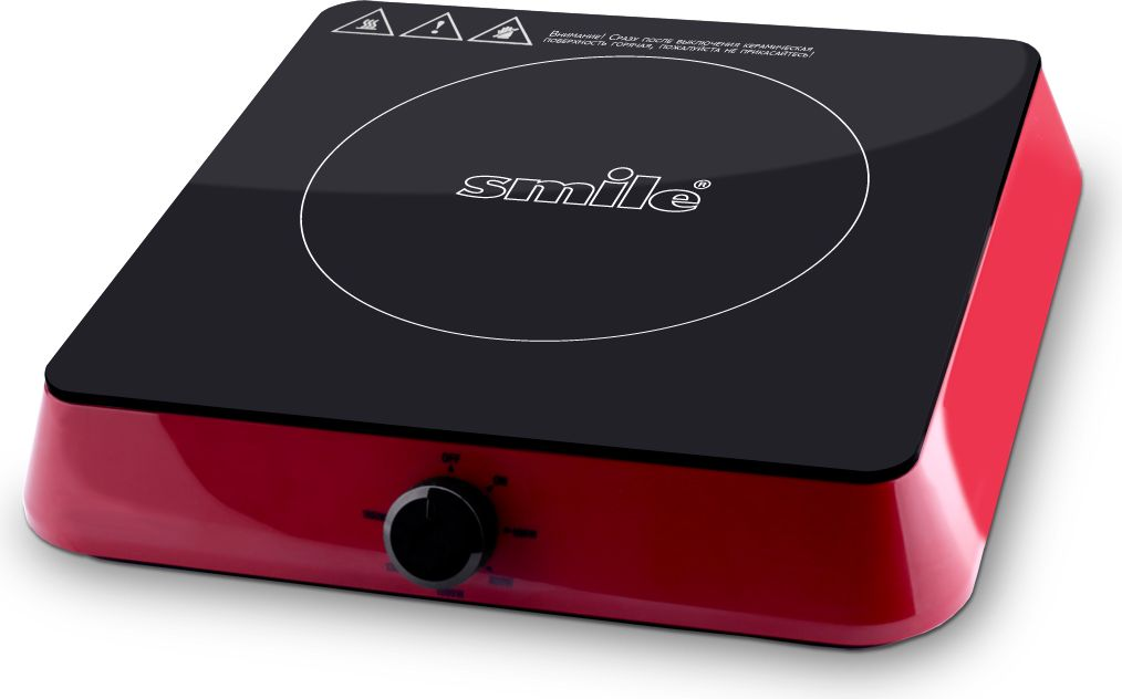 Smile EPI 9050 плитка электрическая индукционнаяEPI 9050Компактная настольная плитка Smile EPI 9050 со стеклокерамической варочной поверхностью оснащена одной индукционной конфоркой.Плитка предназначена для быстрого разогрева и приготовления различных блюд в посуде, обладающей ферромагнитными свойствами.Механическое управление обеспечивает удобную регулировку мощности нагрева. Благодаря компактным размерам плитка станет незаменимым помощником на даче или небольшой кухне, а стильный дизайн станет прекрасным дополнением вашего кухонного интерьера.