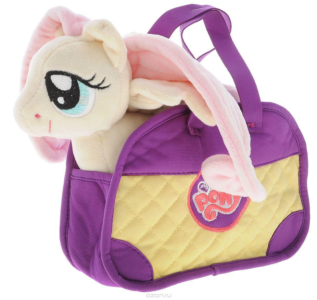 My Little Pony Мягкая игрушка Пони Флаттершай цвет сумки сиреневый желтый 20 см playskool мягкая озвученная игрушка my little pony пони рейнбоу дэш 25 см