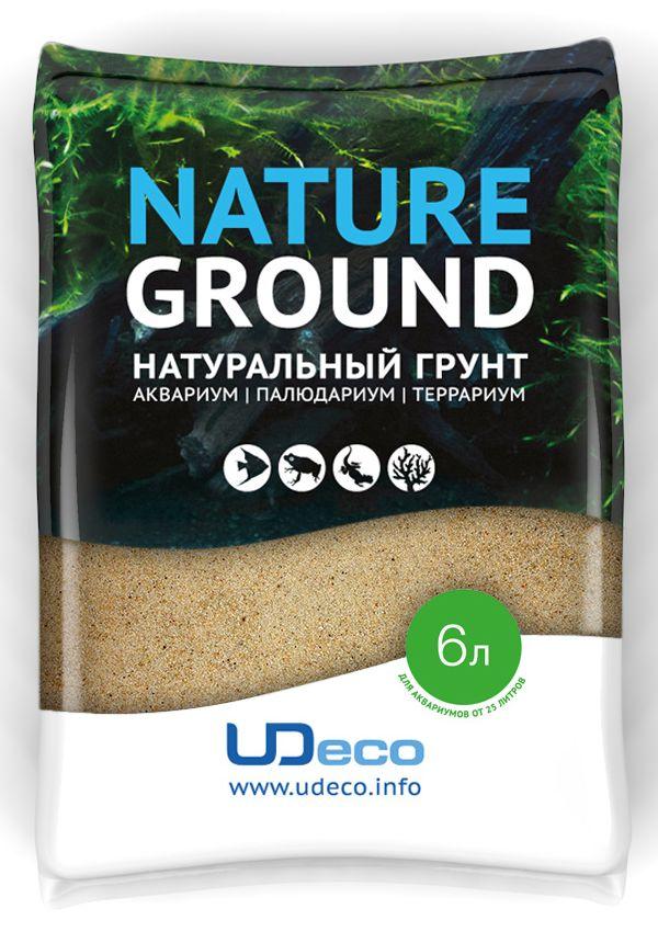 Грунт для аквариума UDeco Янтарный песок, натуральный, 0,1-0,6 мм, 6 л грунт песок кварцевый для аквариума