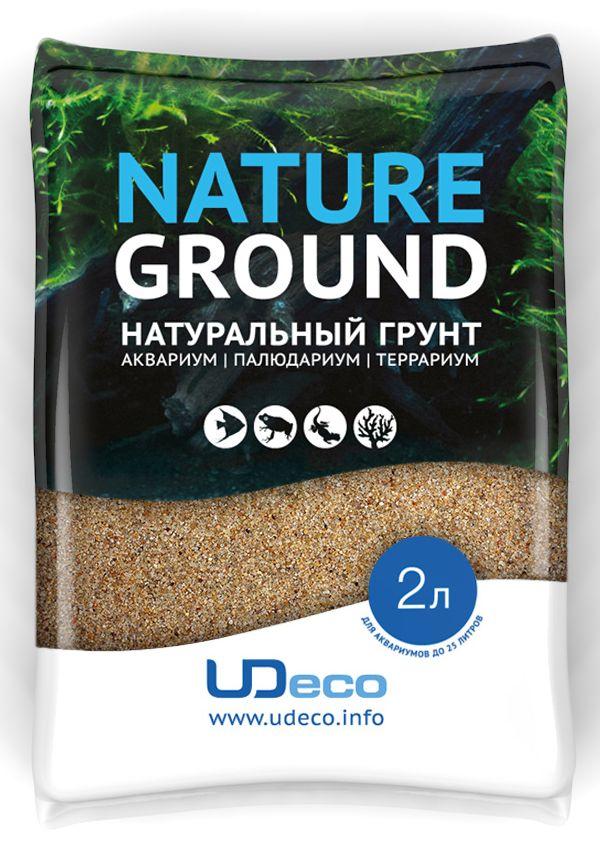 Грунт для аквариума UDeco Янтарный песок, натуральный, 0,4-0,8 мм, 2 л грунт песок кварцевый для аквариума