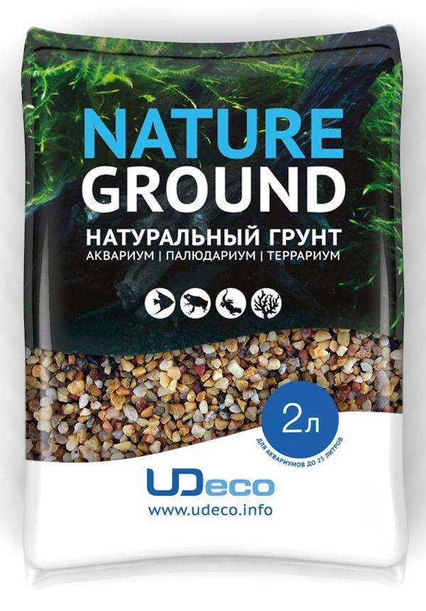Грунт для аквариума UDeco Желтый гравий, натуральный, 3-5 мм, 2 л галька реликтовая эко грунт для аквариумов 4 8 мм 3 5 кг