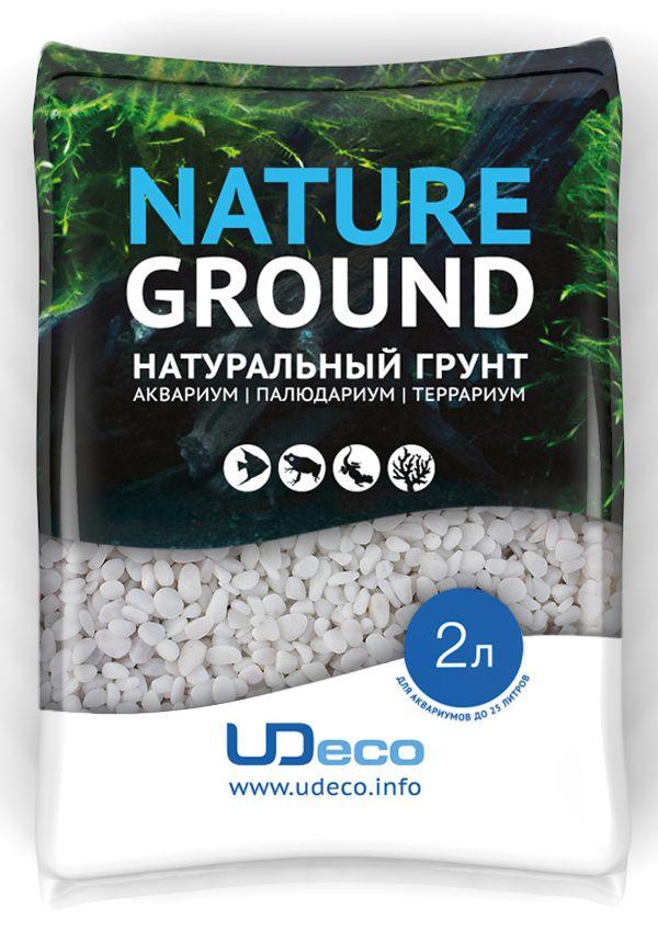 Грунт для аквариума UDeco Белый гравий натуральный 3-5 мм 2 л