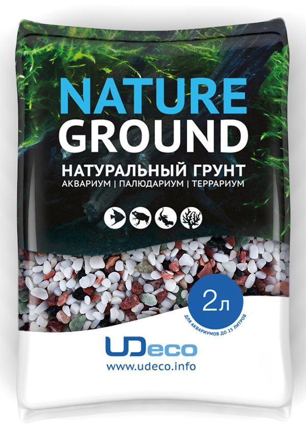 Грунт для аквариума UDeco Разноцветный гравий, натуральный, 4-6 мм, 2 лUDC420852Натуральный грунт UDeco Разноцветный гравий предназначен специально для оформления аквариумов, палюдариумов и террариумов. Изделие готово к применению.Грунт UDeco порадует начинающих любителей природы и самых придирчивых дизайнеров, стремящихся к созданию нового, оригинального. Такая декорация придутся по вкусу и обитателям аквариумов и террариумов, которые ещё больше приблизятся к природной среде обитания.Необходимое количество грунта рассчитывается по формуле:длина аквариума х ширина аквариума х толщина слоя грунта. Предназначен для аквариумов от 25 литров. Фракция: 4-6 мм.Объем: 2 л.