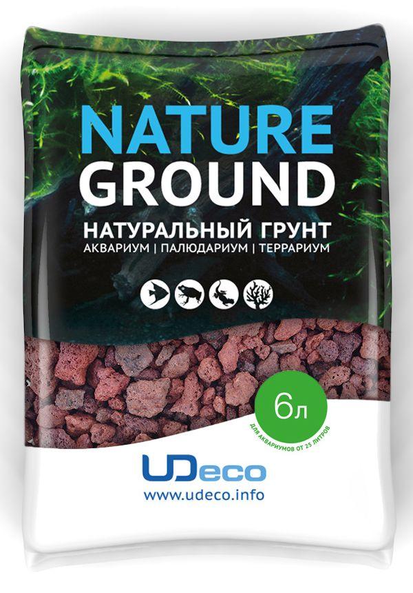 Грунт для аквариума UDeco Лавовая крошка, натуральный, 5-20 мм, 6 л