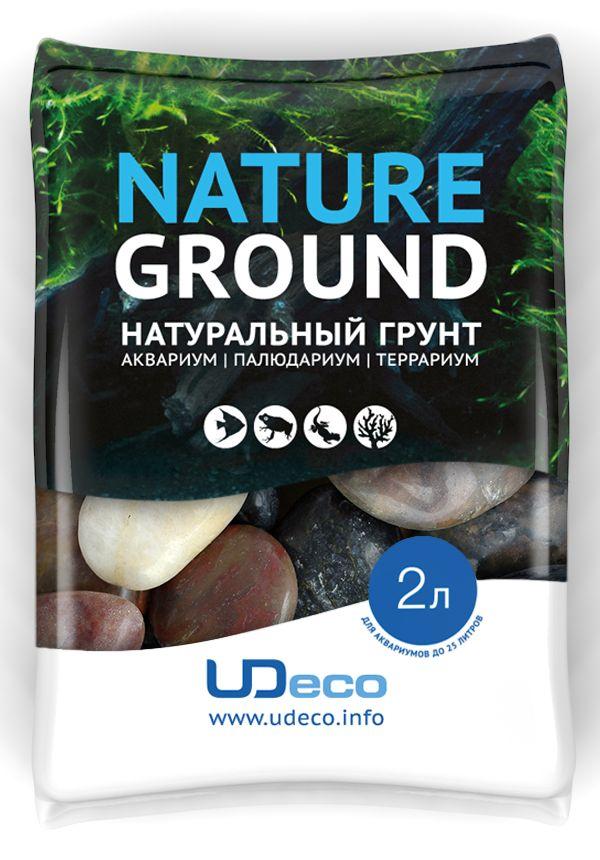 Грунт для аквариума UDeco Разноцветная галька, натуральный, 30-50 мм, 2 лUDC430842Натуральный грунт UDeco Разноцветная галька предназначен специально для оформления аквариумов, палюдариумов и террариумов. Изделие готово к применению.Грунт UDeco порадует начинающих любителей природы и самых придирчивых дизайнеров, стремящихся к созданию нового, оригинального. Такая декорация придутся по вкусу и обитателям аквариумов и террариумов, которые ещё больше приблизятся к природной среде обитания.Необходимое количество грунта рассчитывается по формуле:длина аквариума х ширина аквариума х толщина слоя грунта. Предназначен для аквариумов от 25 литров. Фракция: 30-50 мм.Объем: 2 л.