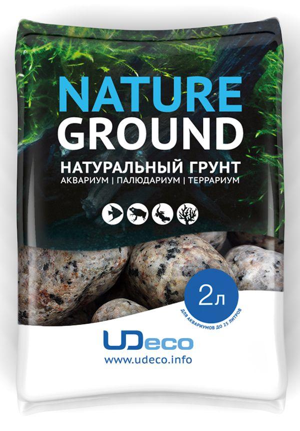Грунт для аквариума UDeco Пятнистая галька, натуральный, 30-50 мм, 2 л галька реликтовая эко грунт для аквариумов 4 8 мм 3 5 кг