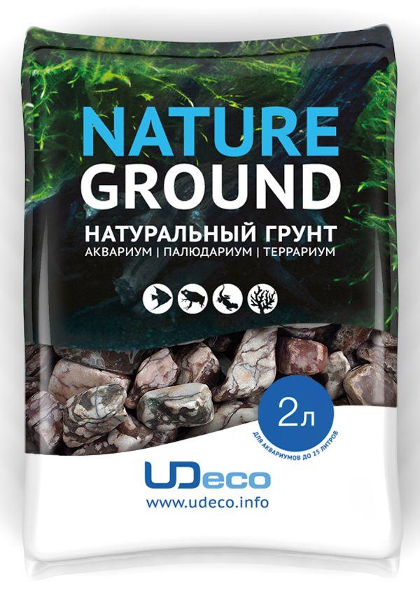 Грунт для аквариума UDeco Волнистая галька, натуральная, 30-50 мм, 2 л галька реликтовая эко грунт для аквариумов 4 8 мм 3 5 кг