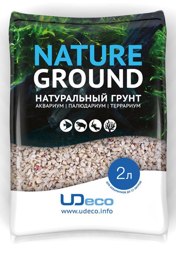 Грунт для аквариума UDeco Коралловая крошка натуральный 4-6 мм 2 л