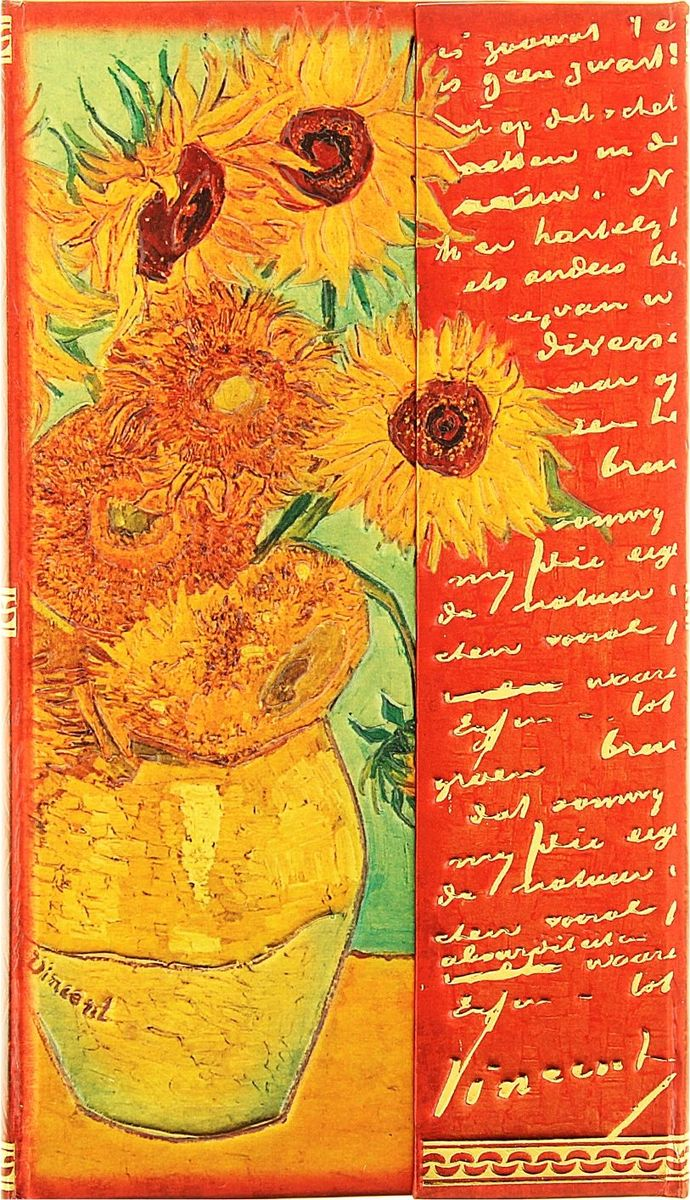 Записная книжка Подсолнухи Ван Гог 96 листов записная книжка 200 листов ноутбук фламинго 42668