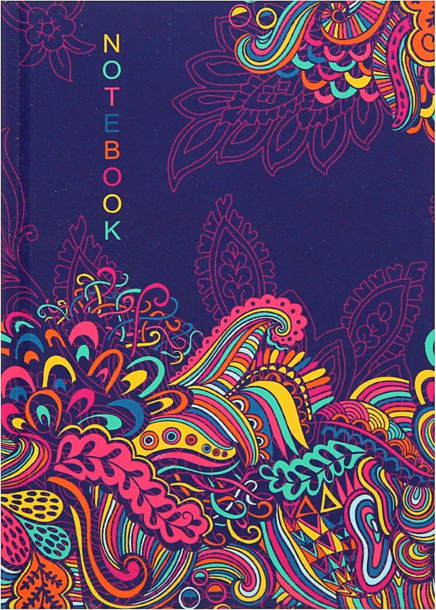 Проф-Пресс Записная книжка Яркий цветочный орнамент 80 листов1844752
