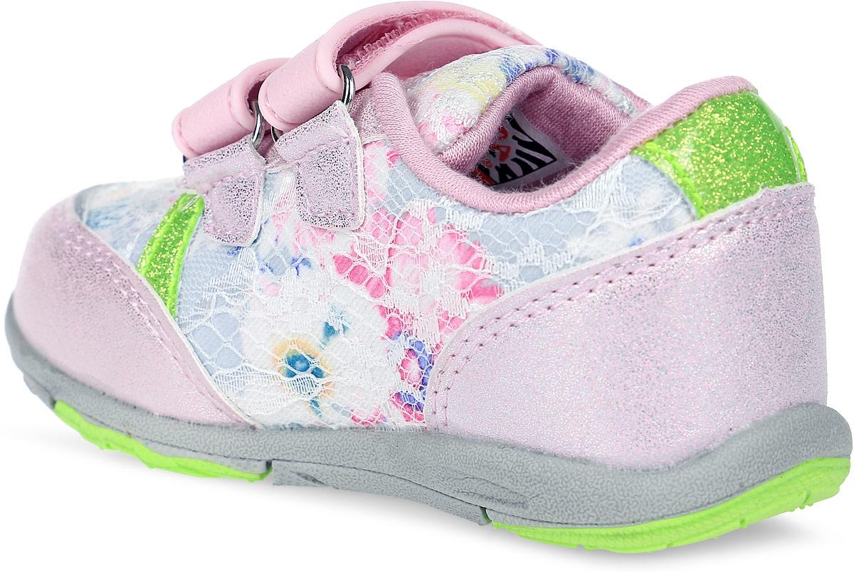 Стильные кроссовки от Зебра выполнены из текстиля со вставками из искусственной кожи. Застежки-липучки обеспечивают надежную фиксацию обуви на ноге ребенка. Подкладка выполнена из текстиля, что предотвращает натирание и гарантирует уют. Стелька с поверхностью из натуральной кожи оснащена небольшим супинатором, который обеспечивает правильное положение ноги ребенка при ходьбе и предотвращает плоскостопие. Подошва с рифлением обеспечивает идеальное сцепление с любыми поверхностями.